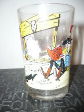 Verre à moutarde Lucky Luke N°6/1972 - vintage glass by Morris