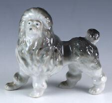 """Vintage Porcelain 2.75"""" Poodle Dog Figurine Glossy Finish Made In Japan"""