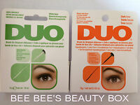 Duo Eyelash Lash Glue Adhesive. Brush On & Latex Free.  Clear or Dark. **NEW**