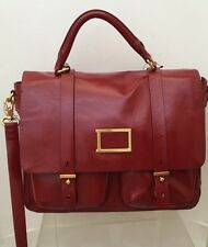 Marc By Marc Jacobs Werdie Large Top Handle Messenger Bag Cabernet Red Leather