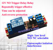 DC 12V Signal Trigger Delay Relay Car Auto Start Delay Switch with optocoupler