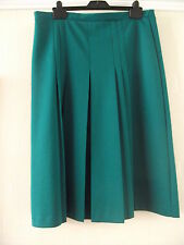 Mid Green Skirt with Pleats at Front ~ Size 18 ~ Butte Knit
