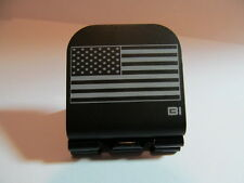 American Flag Laser Etched Aluminum Hat Clip Black Brim-it
