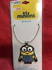 Despicable Me Minion Rubber Necklace W/ 16 Inch Chain  -New