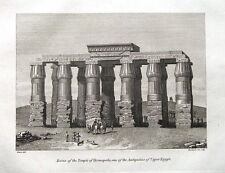 TEMPLE OF HERMOPOLIS, UPPER EGYPT, Cooke Antique Print 1807