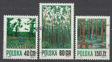 POLAND 1971 USED SC#1797/99 Forestry.