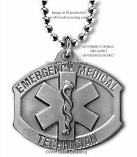 "EMT NECKLACE EMERGENCY MEDICAL TECHNICIAN STAR OF LIFE PENDANT RESCUE 22""   #P*"
