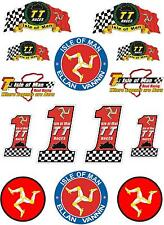 ISLE of MAN TT Races MANX Moto GP Racing Bike-Helmet Stickers-Decals x 14