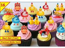 32 Twirlywoos Birthday Cup Cake Fairy Party Toppers Rice / Wafer Edible STAND UP