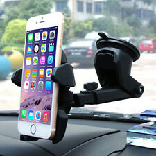1PC Easy One Touch 360° Car Mount Holder Suction for GPS Cell Phones Black