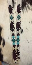 BUFFALO DIAMONDS  Native Design Handmade Beaded Hatband HAT BAND