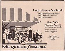 1925 Mercedes-Benz DMG Benz & Cie ca. 14x11 cm original Printwerbung