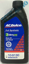 ACDelco FULL SYNTHETIC 10-9130 SAE 5W-30 Dexos1 Motor Oil Mobil 1