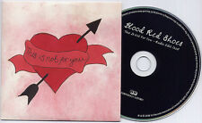 BLOOD RED SHOES This Is Not For You 2008 UK 1-trk promo CD FORYOUCJ1 card sleeve