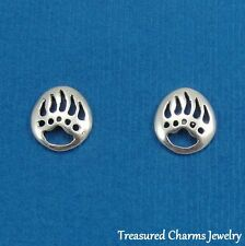 .925 Sterling Silver BEAR PAWS Southwestern Native American Post Stud EARRINGS