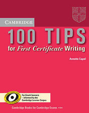 100 Tips for First Certificate Writing Booklet (Greek edition) (Cambridge First