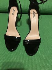 Black Patent Leather Lady sz 12 M high heel shoe  by ABOUND