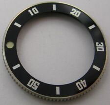new old stock Seiko bezel 29 mm black insert & Lum. dot  ... for parts