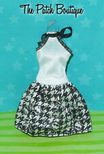 MONSTER HIGH MAKER DOLL SKULLETTE PRINT SKIRT BLACK & WHITE FASHION HALTER DRESS