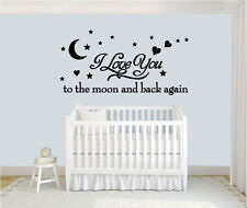 Wall stickers to the moon and back Decal Removable Art Vinyl Decor Home Nursery