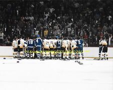BOSTON BRUINS vs Toronto MAPLE LEAFS Bench CLEARING BRAWL On ICE 8x10 Photo WOW
