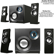 QUALITY 2.1 Compact Surround Sound Gaming Speaker System - PC Laptop TV Sub Amp