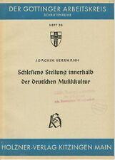 Fachschrift SCHLESIENS MUSIKKULTUR, J. HERRMANN, Göttinger Arbeitskreis, 1953