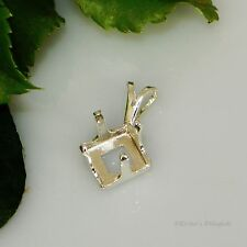 8mm Square Snap Tite Sterling Silver Pendant Setting