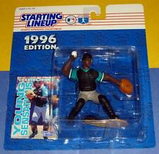 1996 CHARLES JOHNSON Florida Miami Marlins Rookie -low s/h- sole Starting Lineup