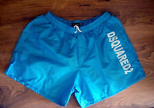 NEW DSQUARED2 MENS BLUE SWIMING SHORTS BEACHWEAR TRUNKS BOXER, SIZE: XL