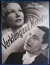 Filmprogramm BFK 2772  Verklungene Melodie  Brigitte Horney, Willy Birgel