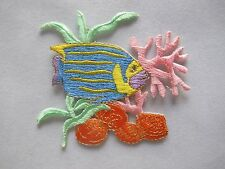 #3485 Tropical Fish Coral Reef Embroidery Iron On Applique Patch