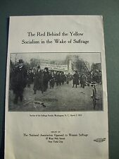 Suffrage National Association Opposed to Woman Suffrage Pamphlet 1913?