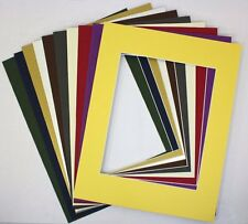 Crescent Pack of 10 11x14 MIXED COLORS Cream Core Picture Mats for 8x10 Photos