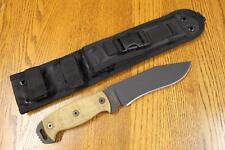 NEW Ontario Ranger 9420TM Night Stalker NS6 Fixed Blade Knife &Sheath 5160 Steel