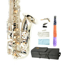 New LADE WSS-798 Silver Professional Alto Eb Brass Saxophone Sax with Accessorie