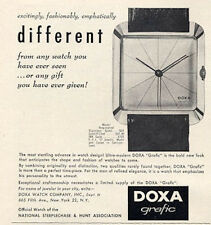 1958 DOXA Grafic Watches PRINT AD