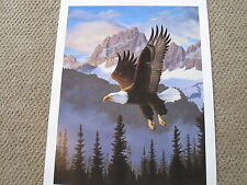 WINGS OF FREEDOM  BY TOM MANSANAREZ  NRA EAGLE  PRINT SOLD OUT PRINT