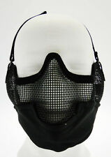 Maschera Tactical  Metallo Face Net Nera Royal softair