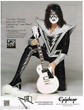 Epiphone - White Lightning - Tommy Thayer of Kiss - 2015 Print Advertisement