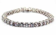 Sterling Silver Diamond 8.25ct Tennis Bracelet (925)