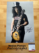 SLASH SIGNED 12X18 PHOTO PSA DNA COA AUTOGRAPH GUNS N ROSES