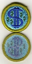 Consumer Buying Merit Badge, Type H, Blue Back Version (1975-1995), Mint!