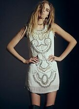 Free People Embellished All in a Row Beaded Shift Dress Retails $350.00 Sold Out