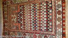 AUTHENTIC ANTIQUE BEAUTIFUL CAUCASIAN PRAYER RUG