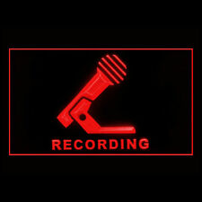 140033 Recording Microphone Production Music Public Studio Air LED Light Sign