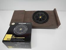 "2014 to 2016 Chevy Silverado Crewcab Box Enclosure SUB Subwoofer 10"" Tan Brown"