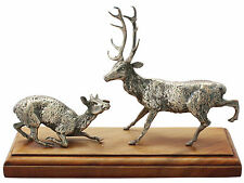 Sterling Silver Deer and Stag Table Ornament - Antique Victorian