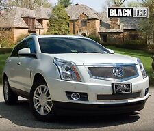2013-2014 Cadillac SRX 2pc Fine Mesh Grille - Black Ice - Mirror Stainless