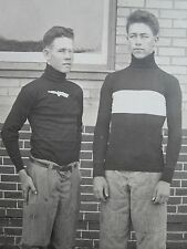 ANTIQUE TEEN BOYS AMERICAN FOOTBALL BEAVIS BUTTHEAD FANCY SHOES PADS RPPC PHOTO